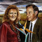 1998 Portrait of Jean and David Poynton, commissioned by Koinonia, KZN 72x72cm